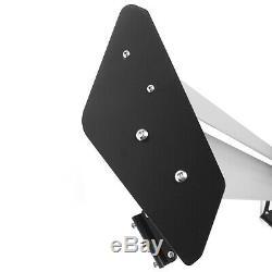 Universal Aluminum Adjustable Double Deck GT Rear Trunk Wing Spoiler Silver T3