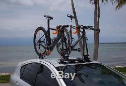 Universal BLACK Mini Bomber 2-Bike Fork-Mount Roof or Rear Car Rack heavy-duty