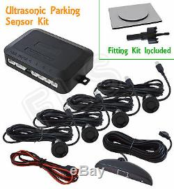 Universal Black Radar Reverse Parking Sensors System Kit With Display Nsn