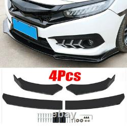 Universal Car Front Bumper Lip Spoiler Splitter +78.7 2M Side Skirts Extensions