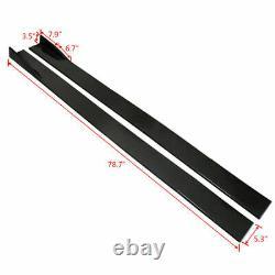 Universal Car Front Bumper Lip Spoiler Splitter +78.7 Side Skirts Extensions BK