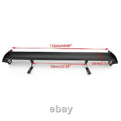 Universal Hatch Adjustable Aluminum GT Rear Trunk Wing Racing Spoiler 15# B BS2