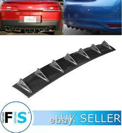 Universal Lower Bumper Diffuser Vanes 7 Shark Fin Spoiler Carbon Fibre-nsn1