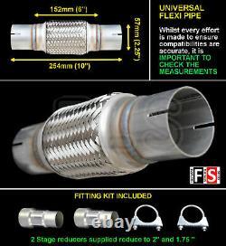 Universal Performance 2.25 Exhaust Flexipipe Cat Repair Pipe Flexi-xx-nsn2