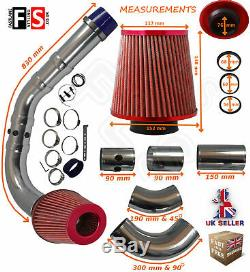 Universal Performance Cold Air Feed Pipe Air Filter Kit Red 2103rf-nsn2