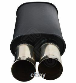 Universal Performance Full Flow Stainless Steel Exhaust Backbox Lmc-006-nsn1