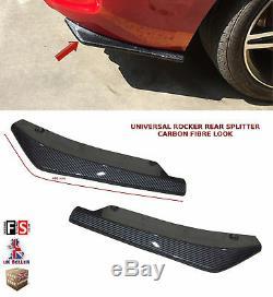 Universal Rear Bumper Lip Extension Rocker Splitter Carbon Fibre Look-nsn1