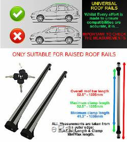 Universal Roof Bars Roof Rail/rack Estates Saloon Oval Fits Nissan
