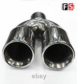 Universal Stainless Steel Exhaust Tailpipe Tip Twin Yfx-0225 Nsn1
