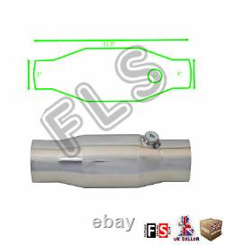 Universal T304 Stainless Sports Cat Catalytic Converter 3 Inch 200 Cell-nsn2