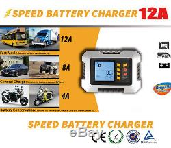 Updated Digital Automatic Smart 12V 5.0L Car Battery Charger Analyser Tester OEM