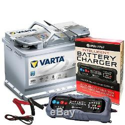 Varta E39 Audi BMW Car Battery 12v 4 Year 096 70Ah 760CCA AGM With 10 Amp Charger