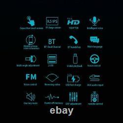 Vertical Screen 9.5in Car Media Player Bluetooth Handsfree FM Radio Mirror Link