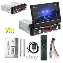 WINCE 7in Telescopic Touch Screen Car GPS FM Stereo Radio MP5 Player AUX/USB/TF
