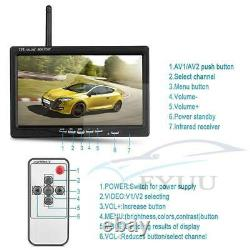 Wireless 4 Backup Cameras IR Night Vision + 7Rear View Monitor for RV Truck Bus