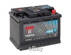 YUASA PREMIUM AGM 12v Type 027 EK600 Car Battery 4 Year Warranty YBX9027